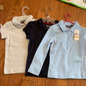 NWT Náutica girls uniform polo shirts